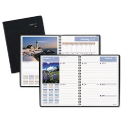 At-A-Glance Scenic Weekly/Monthly Planner, 8 1/4 x 10 7/8, Blue, 2017