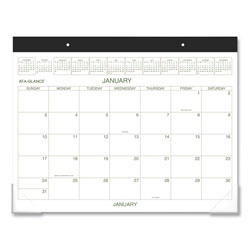 At-A-Glance Two-Color Desk Pad, 22 x 17, 2018