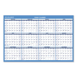 At-A-Glance Horizontal Erasable Wall Planner, 36 x 24, Blue/White, 2018
