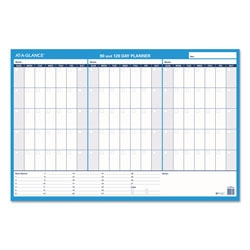 At-A-Glance 90/120-Day Undated Horizontal Erasable Wall Planner, 36 x 24, White/Blue,