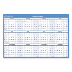 At-A-Glance Horizontal Erasable Wall Planner, 48 x 32, Blue/White, 2017