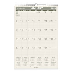 At-A-Glance Recycled Wall Calendar, 15 1/2 x 22 3/4, 2017