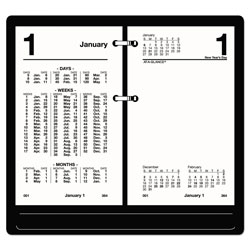 At-A-Glance Financial Desk Calendar Refill, 3 1/2 x 6, White, 2018