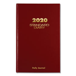 At-A-Glance Standard Diary Recycled Daily Journal, Red, 7 11/16 x 12 1/8, 2018