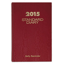 At-A-Glance Daily Reminder Book, Tel/Expense, 5 3/4 x 8 1/4, Red Vinyl Cover