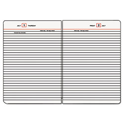 "At-A-Glance Refill for Daily Diary, Jan-Dec, 1PPD, 5-3/4""x8-1/4"", WE/Black/RD"
