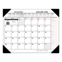 At-A-Glance Two-Color Monthly Desk Pad Calendar, 22 x 17, 2018