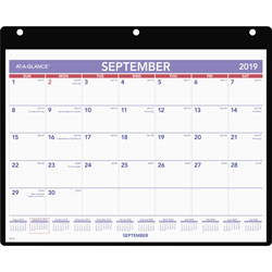 At-A-Glance Monthly Desk/Wall Calendar, 11 x 8 1/4, White, 2016-2017