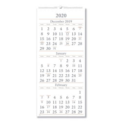At-A-Glance Three-Month Reference Wall Calendar, 12 x 27, 2016-2018