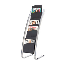 "ALBA Literature Display Stand with 6 Compartments, 19"" x 18 1/2"" x 46"""