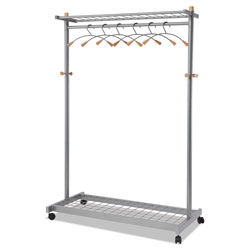"ALBA Double-Sided Two Shelf Garment Rack 45 3/5""W x 22""D"