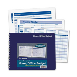 "Adams Business Forms Home/Office Budget Record, 30 Pages, 10 1/2"" x 7 1/2"""