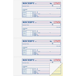 "Adams Business Forms Money/Rent Receipt Book, Carbonless, 2-Part, 7-5/8"" x 11"", WE"