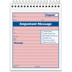 "Adams Business Forms While You Were Out Phone Message Book, 50 Sets, 4""x5 1/2"""