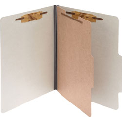 "Acco Classification Folders, 2"" Exp, Letter, 1 Partition, Mist Gray"
