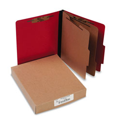 Acco Classification Folders, Letter, 6 Sect., Exec. Red, 10/Bx
