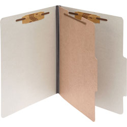 "Acco Classification Folders, 2"" Exp, Legal, 1 Partition, Mist Gray"