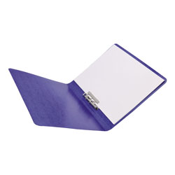 "Acco Presstex® Grip Punchless Binder with Spring Action Clamp, 5/8"" Capacity, Dark Blue"