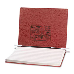 Acco Pressboard Hanging Data Binder for 14 7/8 x 11 Unburst Sheets, Red