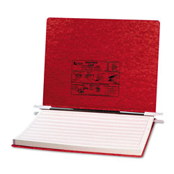 Acco Pressboard Hanging Data Binder for 14 7/8 x 11 Unburst Sheets, Executive Red