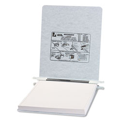 Acco Pressboard Hanging Data Binder for 9 1/2 x 11 Unburst Sheets, Light Gray