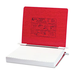 Acco Pressboard Hanging Data Binder for 11 x 8 1/2 Unburst Sheets, Executive Red