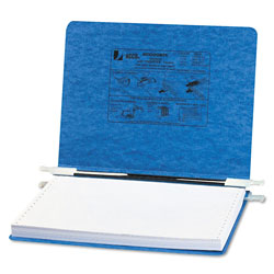 Acco Pressboard Hanging Data Binder for 12 x 8 1/2 Unburst Sheets, Light Blue