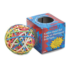 Acco Rubber Band Ball, Assorted Colors & Sizes, Minimum 260 Bands