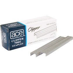 Ace Office Products Undulated Staples for Lightweight Clipper Stapler
