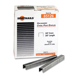 "Ace Office Products Chisel Point Staples with 3/8"" Crown and 38"" Length"