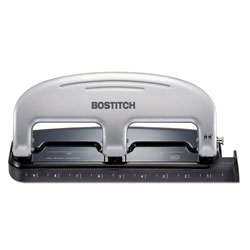 Accentra Three-Hole Punch, 20 Sheet Capacity, Black/Silver