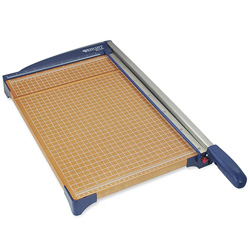 "Acme Paper Trimmer, 18"", 13-3/5x26""x3"", Woodgrain/Blue"