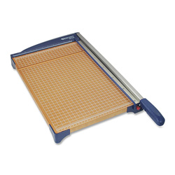 "Acme Paper Trimmer, 12"", 14""x22-3/10""x3-3/10"", Woodgrain/Blue"