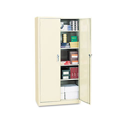"Alera Assembled Storage Cabinet, 72""-High, 36"" x 18"", Putty"