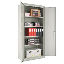 "Alera Assembled Storage Cabinet, 78""-High, 36"" x 18"", Gray"