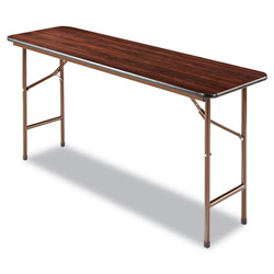 Alera Folding Table, Rectangular, 60w x 18d x 29h, Walnut