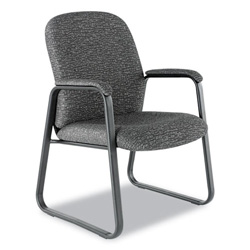 Alera Genaro Guest Chair, Graphite Fabric, Sled Base