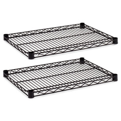 "Alera Industrial Wire Shelves, 24"" x 18"", Black"