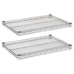"Alera Industrial Wire Shelves, 24"" x 18"", Silver"