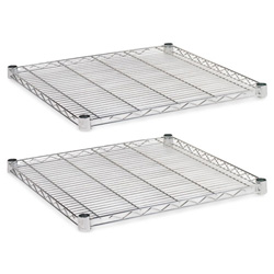 "Alera Industrial Wire Shelves, 24"" x 24"", Silver"