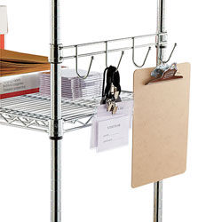 "Alera Wire Shelving Hook Bars, 18"", Silver"