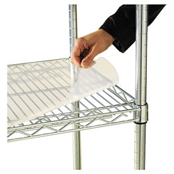 "Alera Wire Shelving Shelf Liners, 48"" x 24"", Clear"