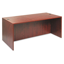 Alera Valencia Series Desk Shell, Medium Cherry, 72w x 36d x 29 1/2h