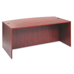 Alera Valencia Series Bow Front Desk Shell, Medium Cherry, 72w x 42d x 29 1/2h