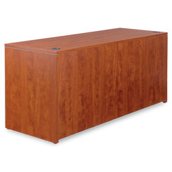 Alera Valencia Series Corner Credenza Shells, 66w x 24d, Medium Cherry