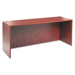 Alera Valencia Series Credenza Shell, Medium Cherry, 72w x 24d x 29 1/2h