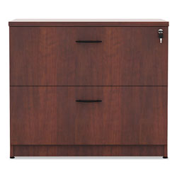 Alera Valencia Series Two Drawer Lateral File, Medium Cherry, 35w x 22d x 29 1/2h