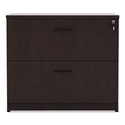 Alera Valencia Series Two Drawer Lateral File, Mahogany, 35w x 22d x 29 1/2h