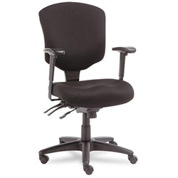 Alera Wrigley Pro Series Mid Back Swivel Task Chair, Black Fabric