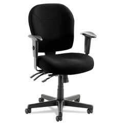 Alera Wrigley 24/7 Series Mid Back Swivel Task Chair, Black